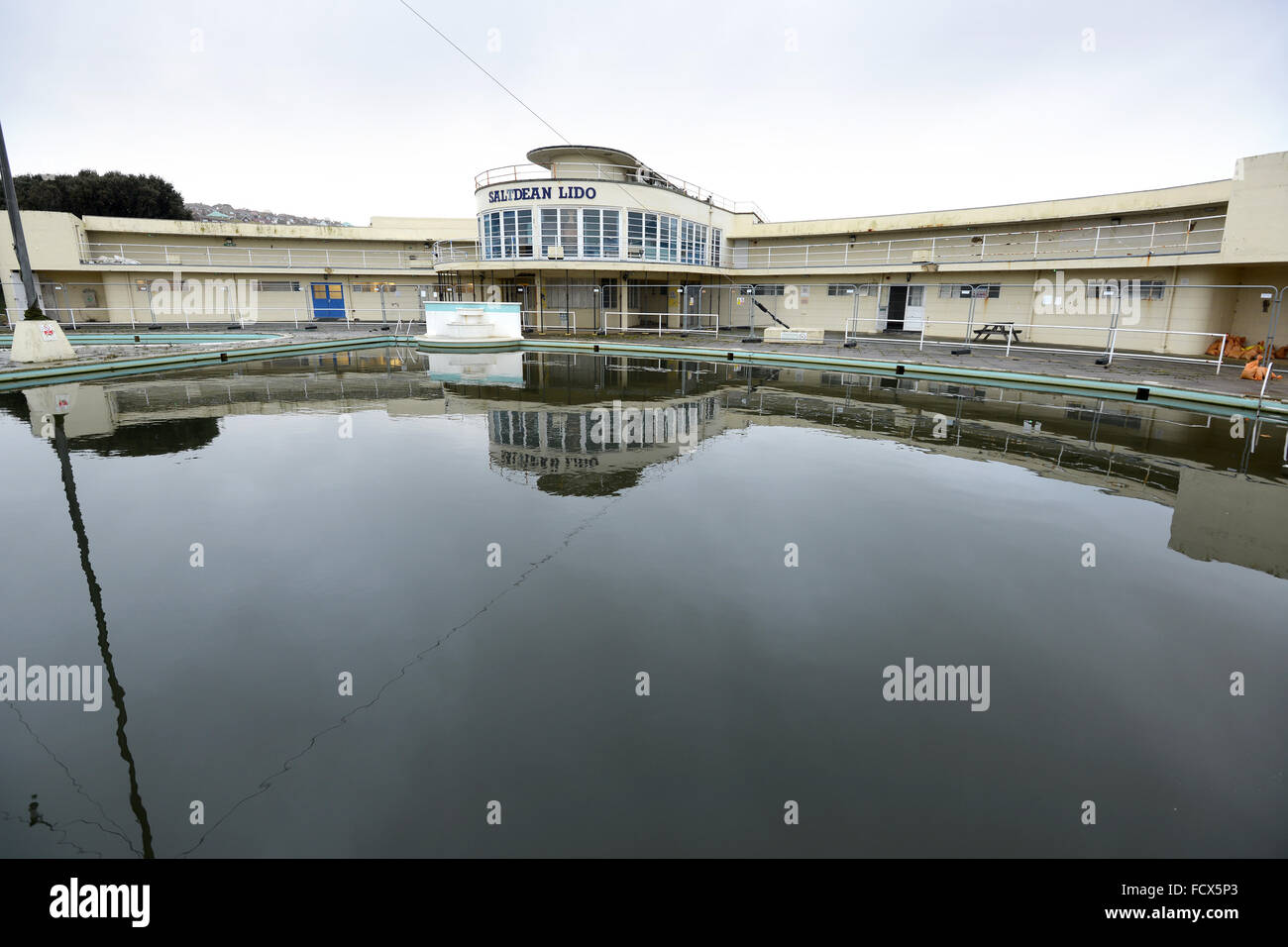 Saltdean Lido East Sussex Uk Rundown Art Deco Open Air Swimming Stock Photo Royalty Free