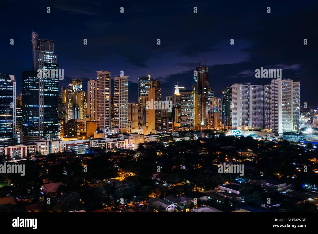 night skyline view of - photo #39