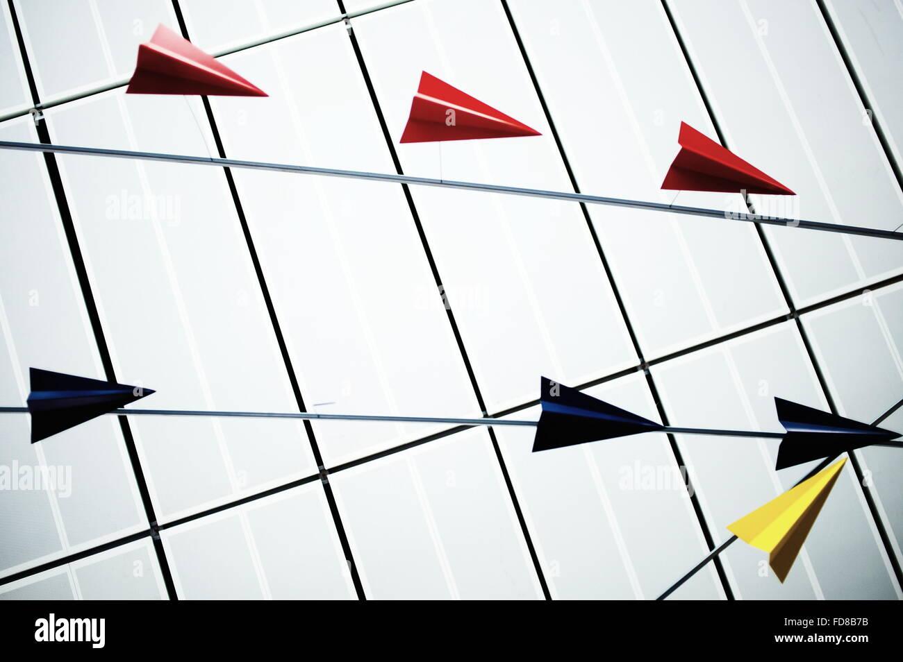 Origami Planes Stock Foto