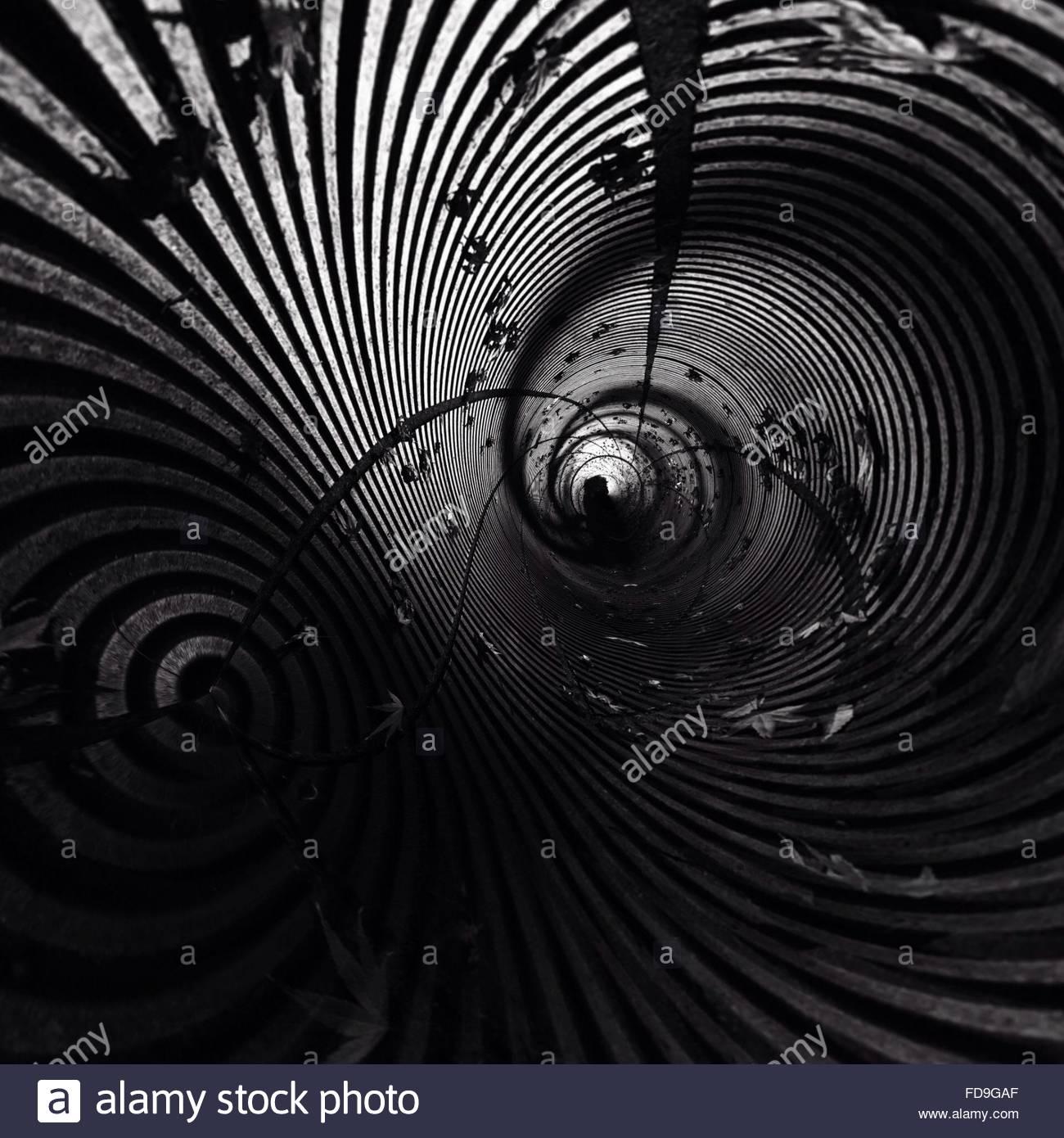 Full Frame Shot Of Empty Tunnel Stock Foto