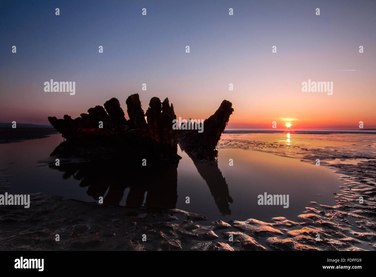 the-wreck-of-the-ss-nornen-at-sunset-on-