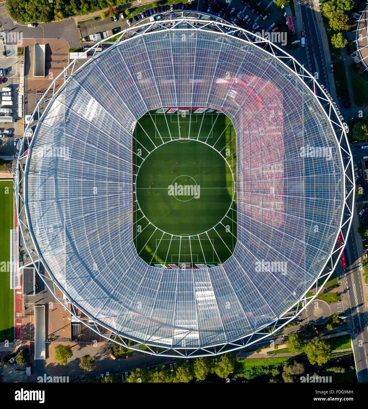 aerial view bayer 04 leverkusen bayarena the stadium of. Black Bedroom Furniture Sets. Home Design Ideas