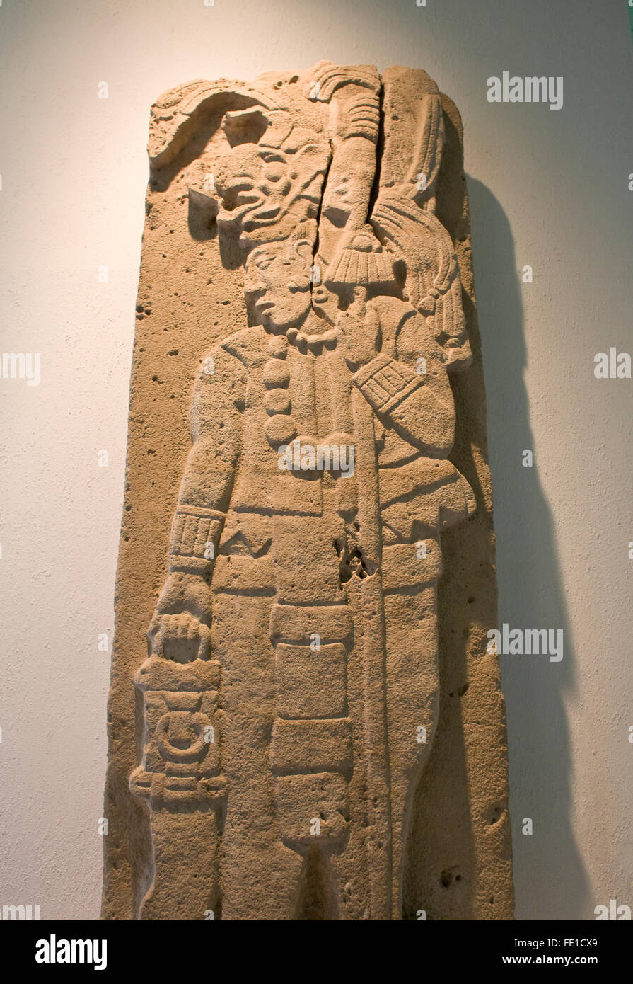 Pre hispanic stone carving of the mixtec or zapotec