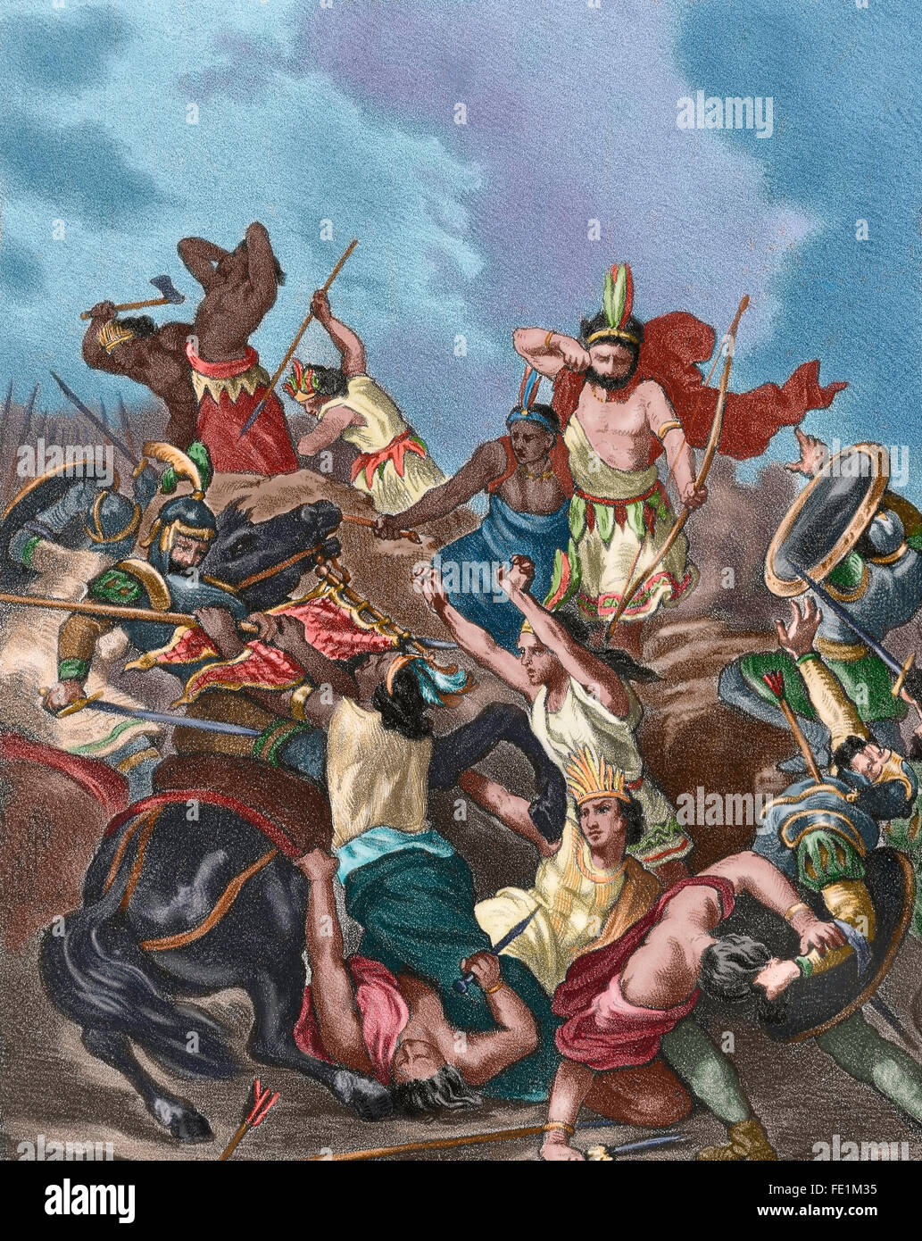 The conquest of the aztec and