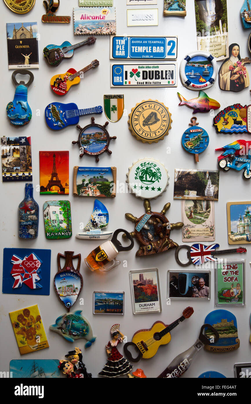 a-varied-collection-of-fridge-magnets-on