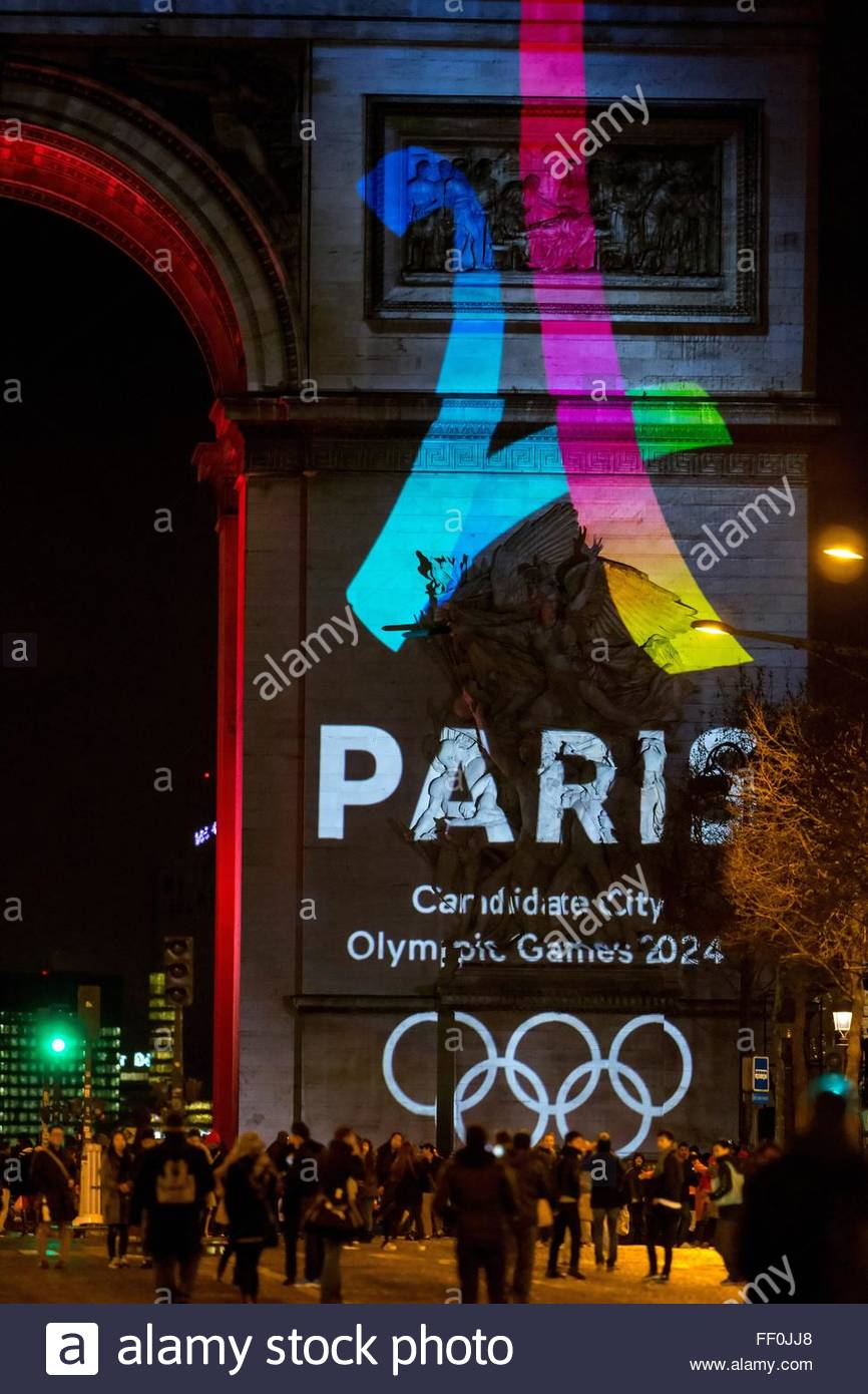 Paris, France. February 9th, 2016. FRANCE, Paris: The logo for Paris as a candidate for the 2024 Olympics Games Stock Photo