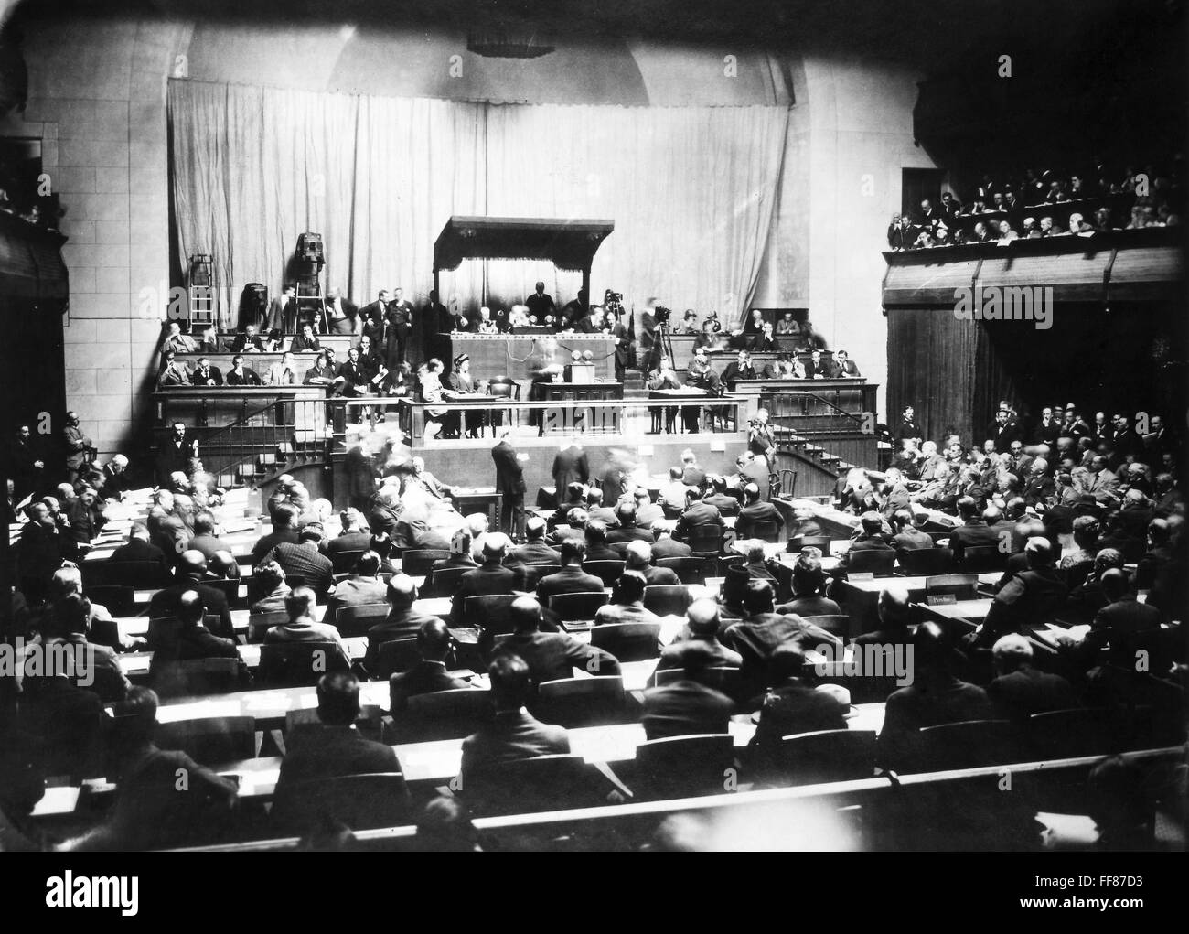 league of nations 1924 nopening session of the fifth