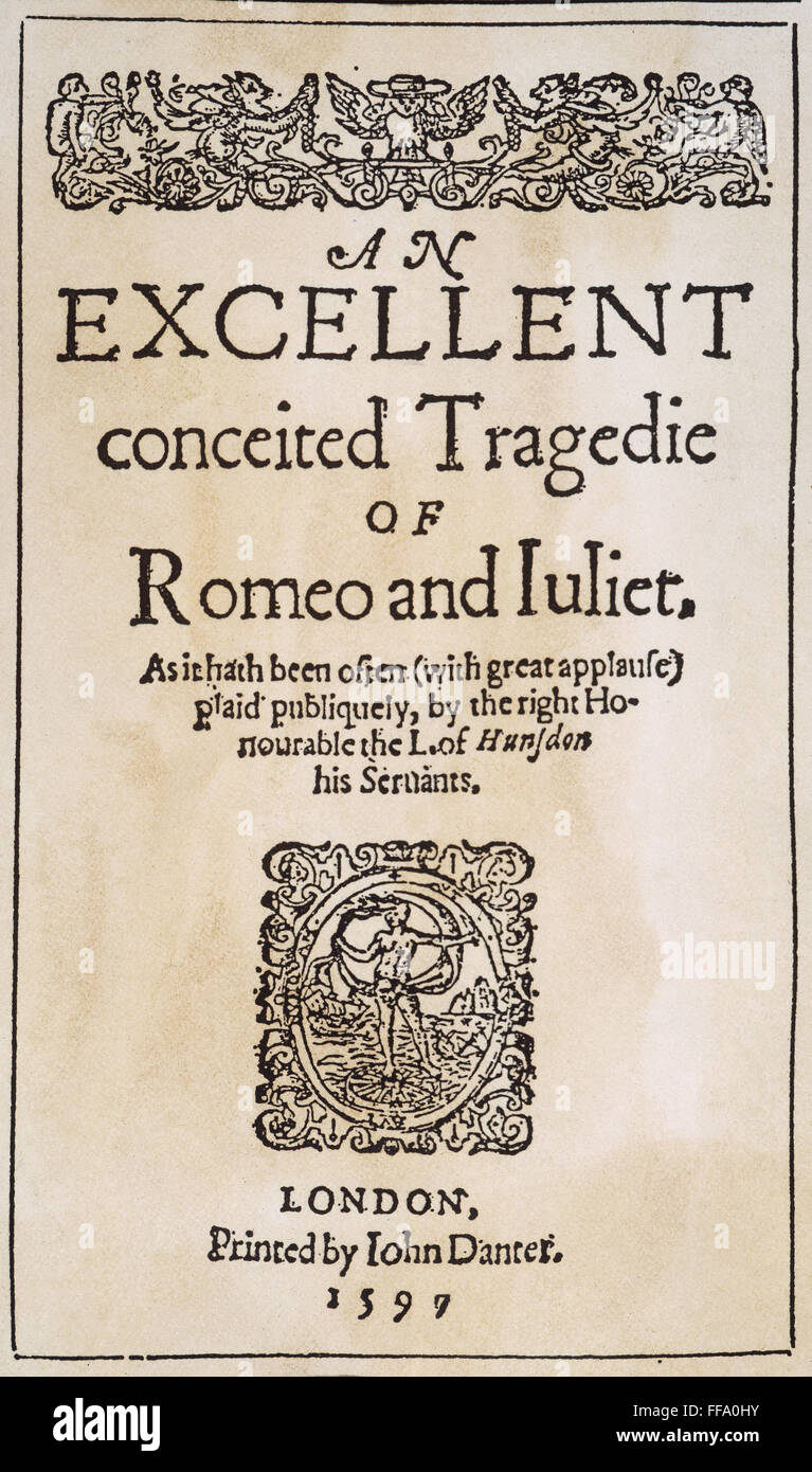 ROMEO & JULIET, 1597. /nTitle page from the first ...
