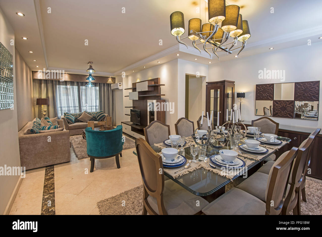 Interior design of a luxury apartment show home living area and stock photo royalty free image - Show houses interior design ...