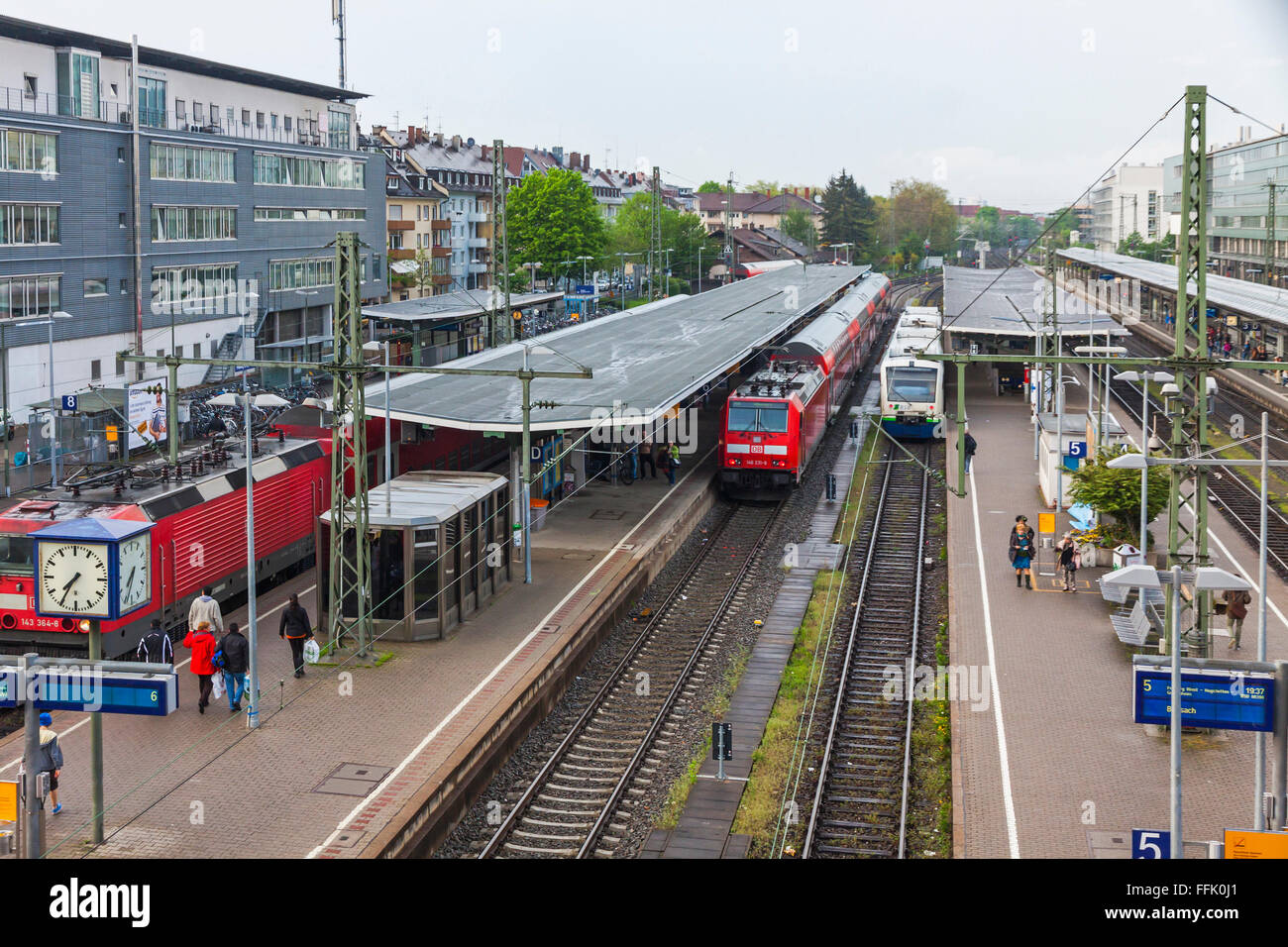 freiburg hauptbahnhof railway station freiburg im breisgau germany stock photo royalty free. Black Bedroom Furniture Sets. Home Design Ideas