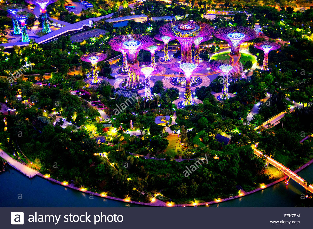 View Of Gardens By The Bay From The Marina Bay Sands