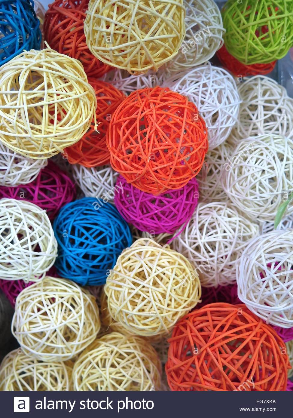 Full Frame Shot Of Multi Colored Balls Stock Foto