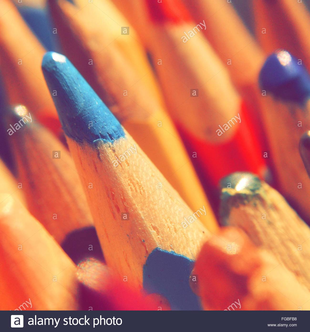 Close-Up Of Colored Pencils Stock Foto