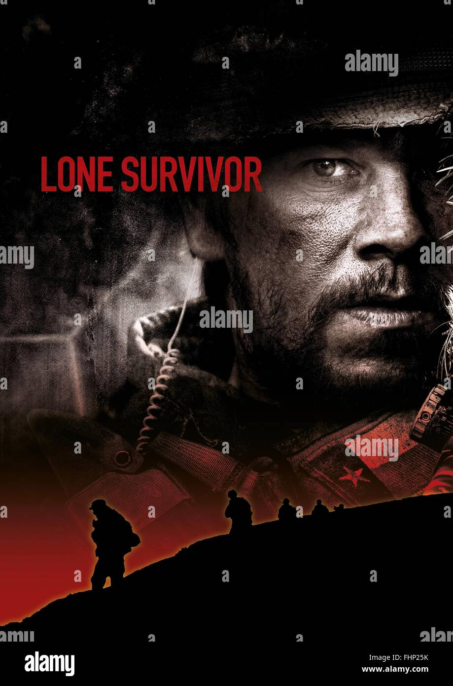 MARK WAHLBERG POSTER LONE SURVIVOR (2013 Stock Photo ...