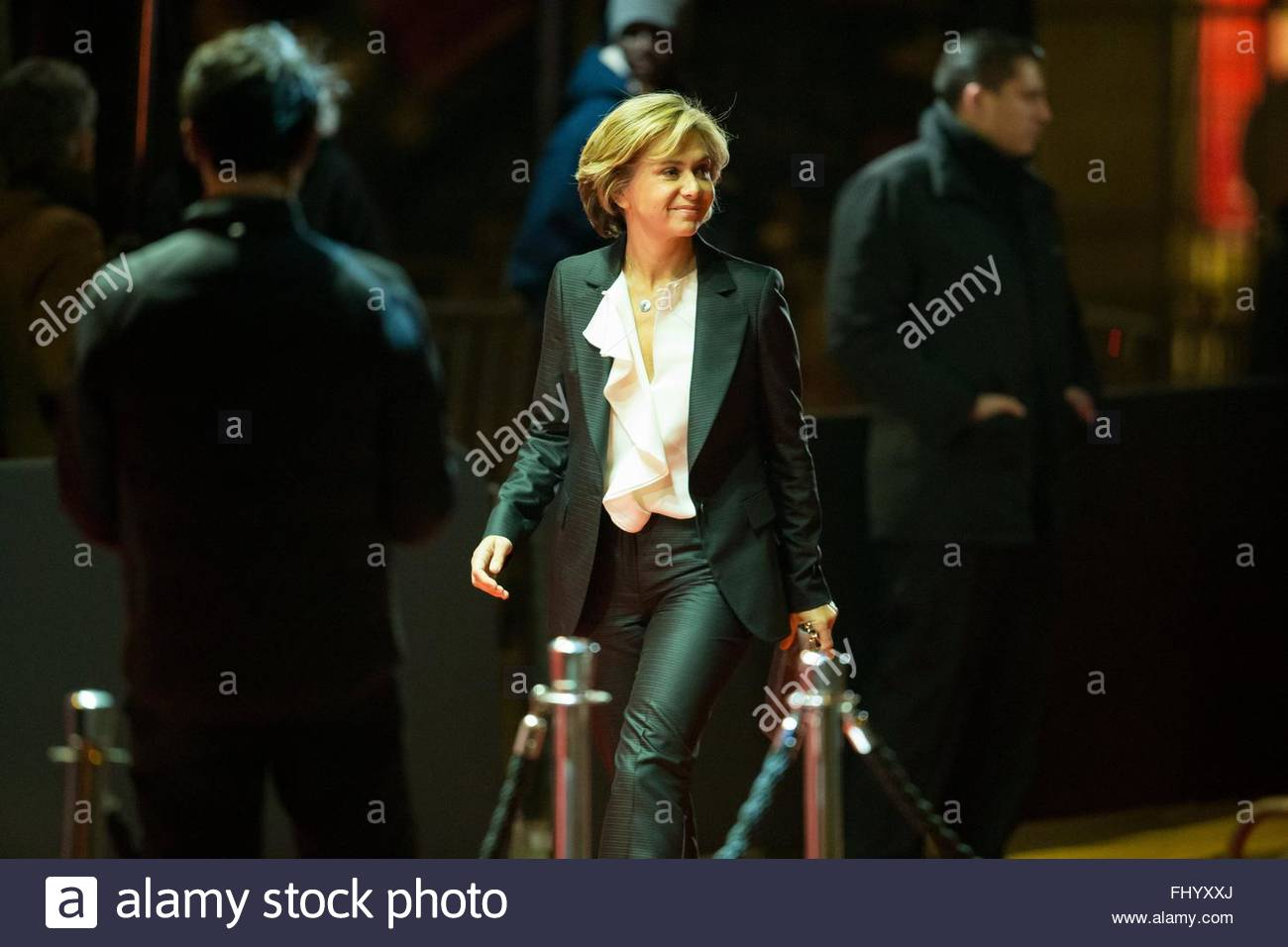 Paris, France. February 26th, 2016. FRANCE, Paris: French President of the Regional Council of Ile-de-France Valerie Stock Photo