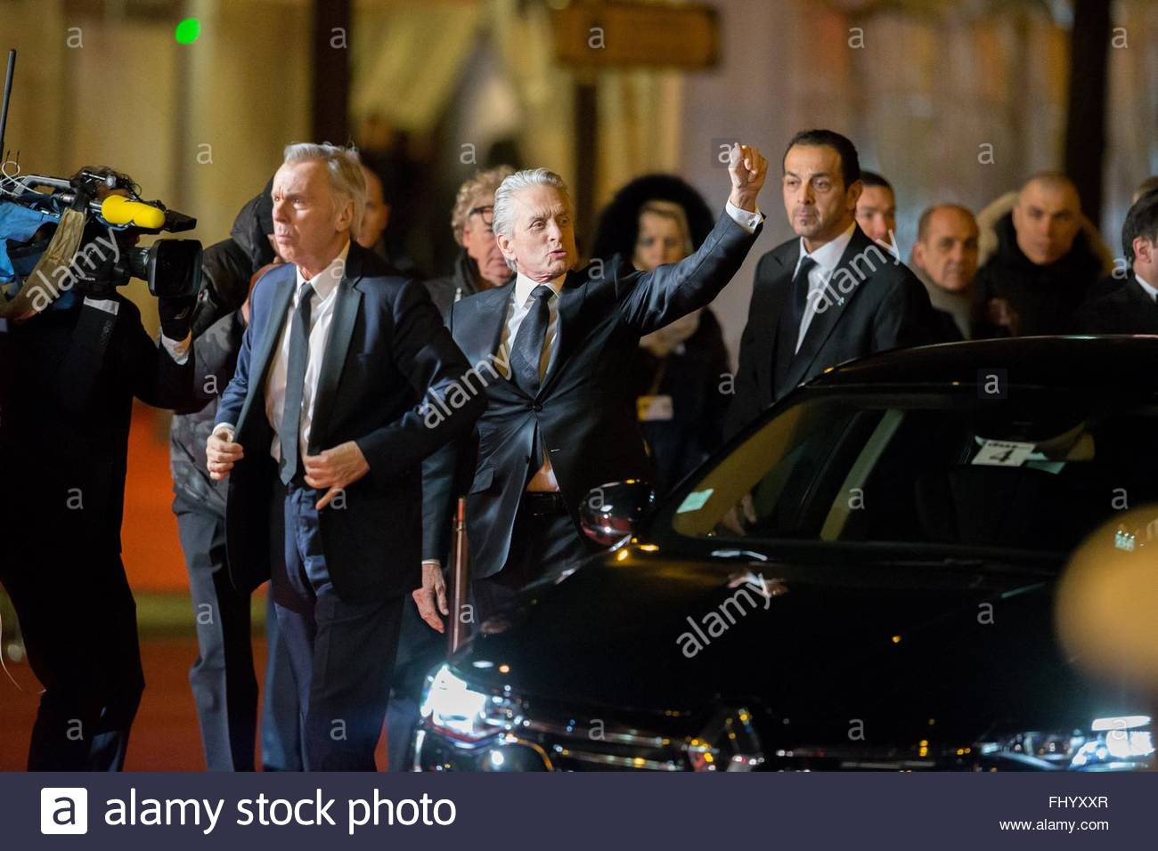 Paris, France. February 26th, 2016. FRANCE, Paris: US actor Michael Douglas walks on the red carpet of the 41st Stock Photo