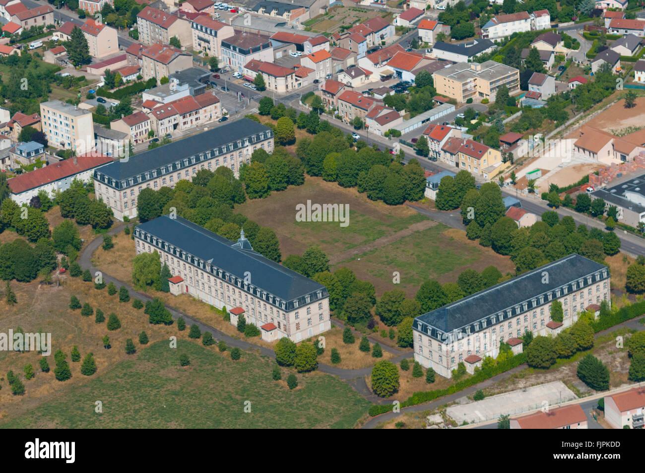 Meuse 55 ville de verdun caserne miribel vue aerienne for Piscine de verdun