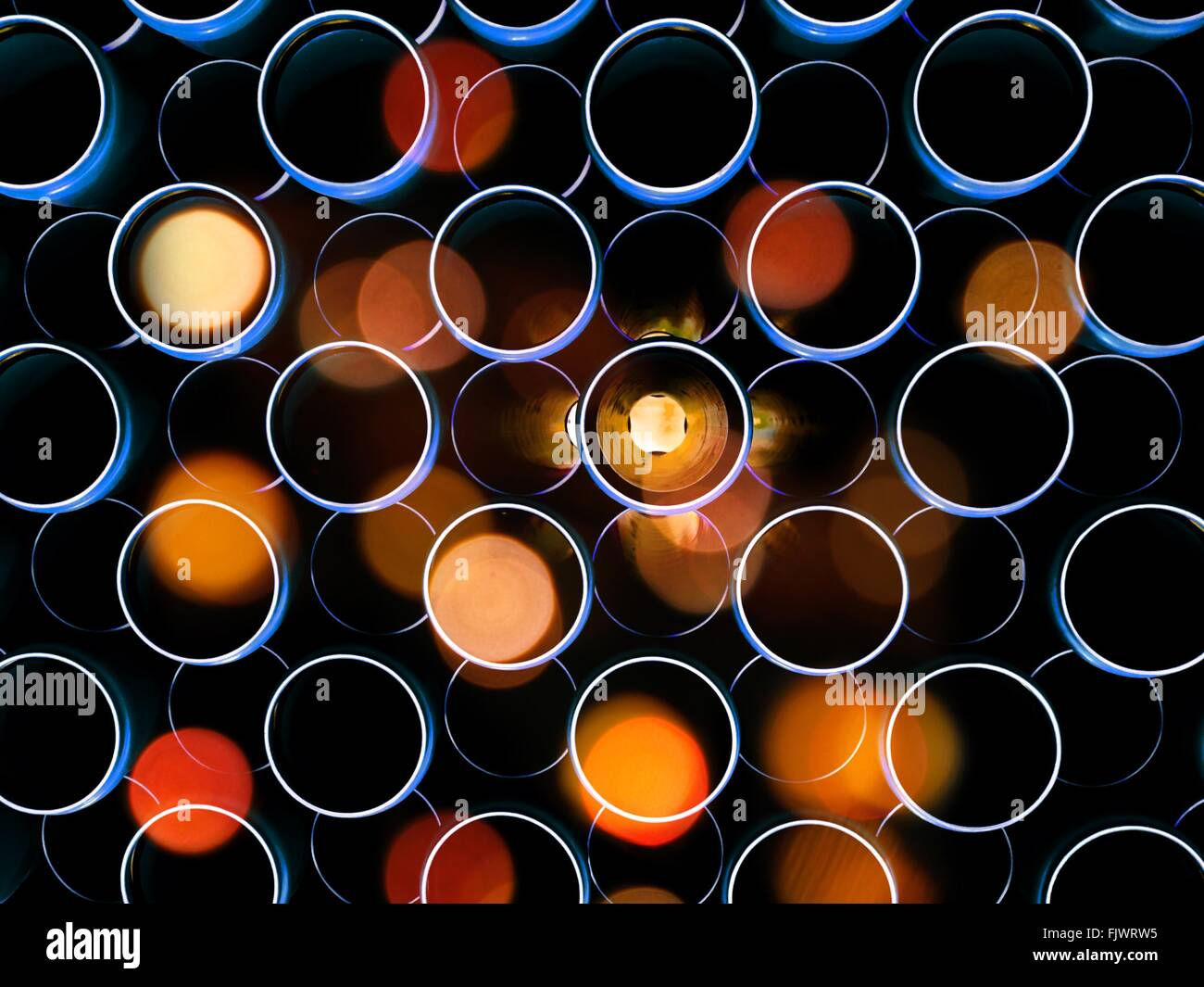 Full Frame Shot Of Defocused Lights Stock Foto