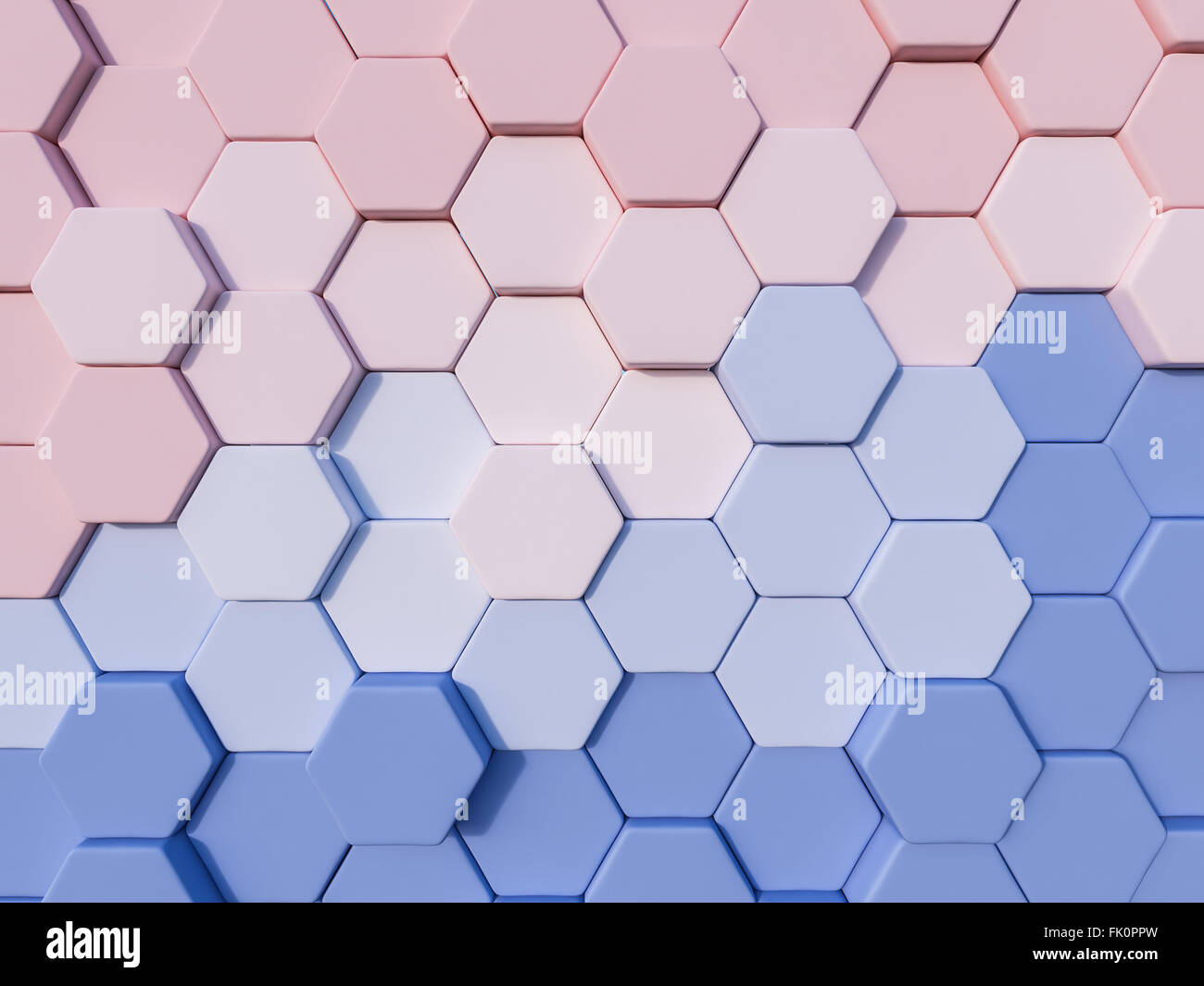 serenity blue and rose quartz abstract 3d hexagon background stock photo  royalty free image