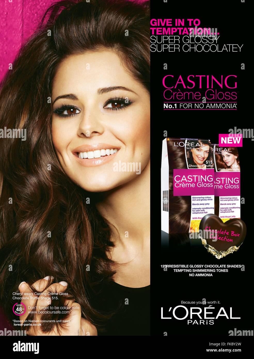 2010s Uk L Oreal Magazine Advert Stock Photo 97993025 Alamy