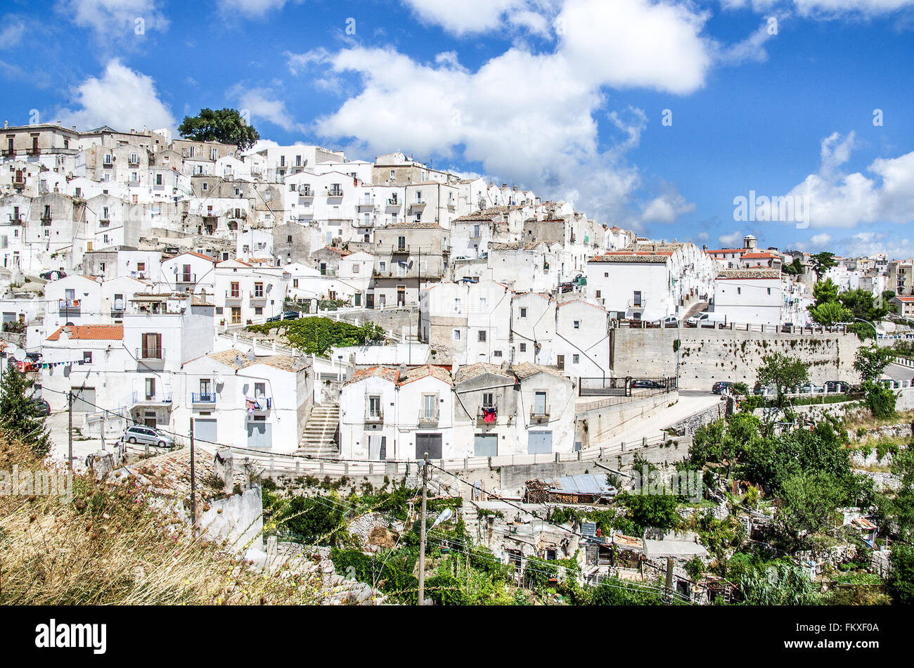 Monte Sant Angelo - south italy village - Gargano - Puglia Stock Photo