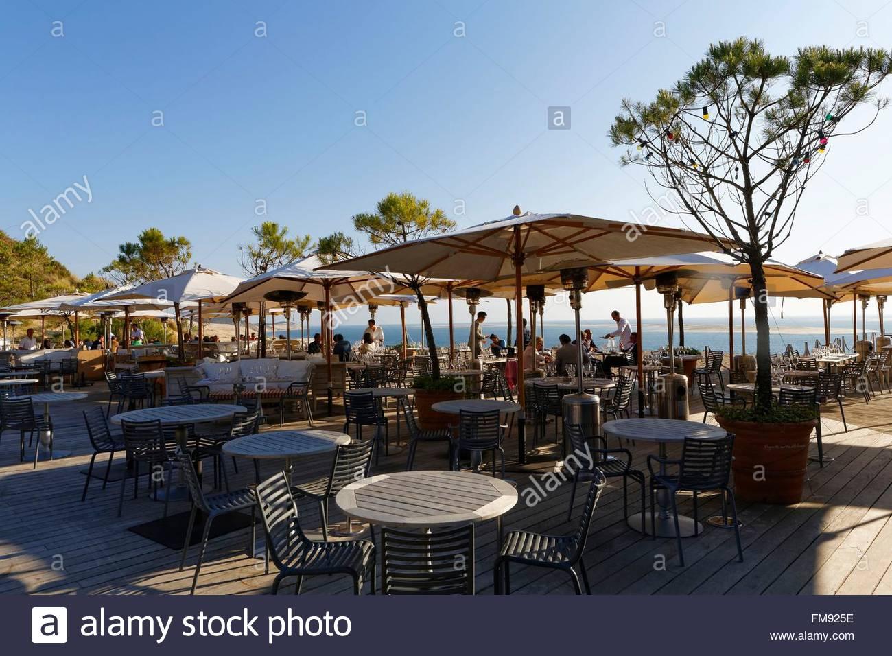France gironde bassin d 39 arcachon pyla sur mer la corniche hotel stock - Restaurant la corniche arcachon ...
