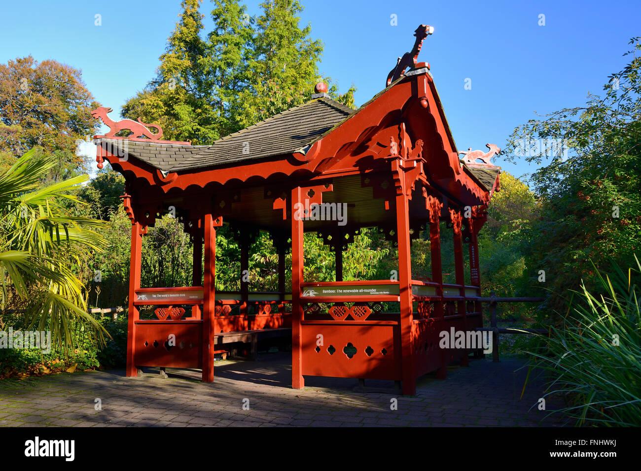 Chinese Pavilion Royal Botanic Garden Edinburgh Scotland Uk Stock Photo Royalty Free Image