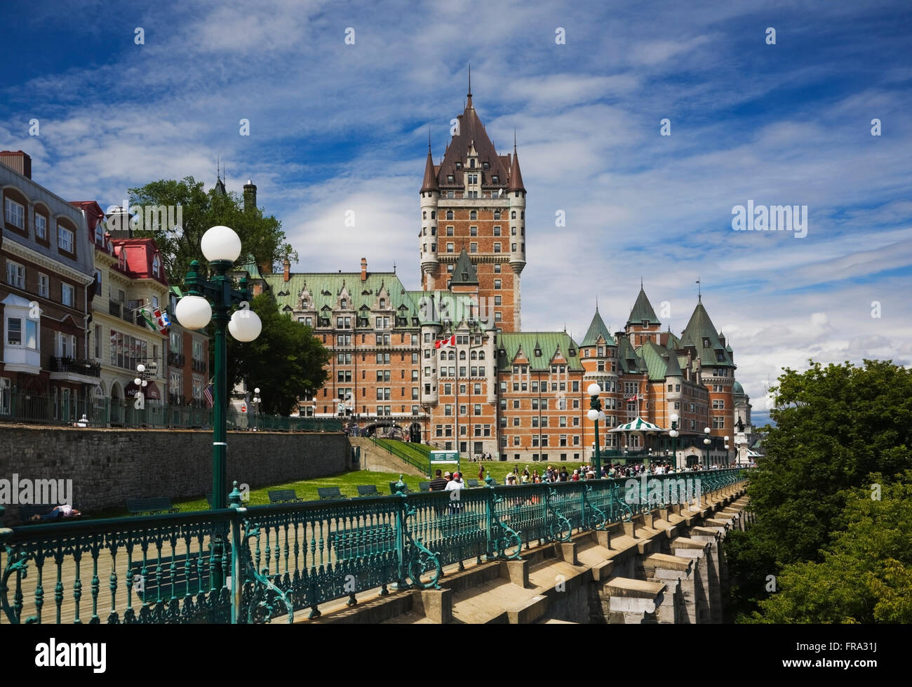 Dufferin terrace and chateau frontenac in summer in upper for Terrace 45 qc