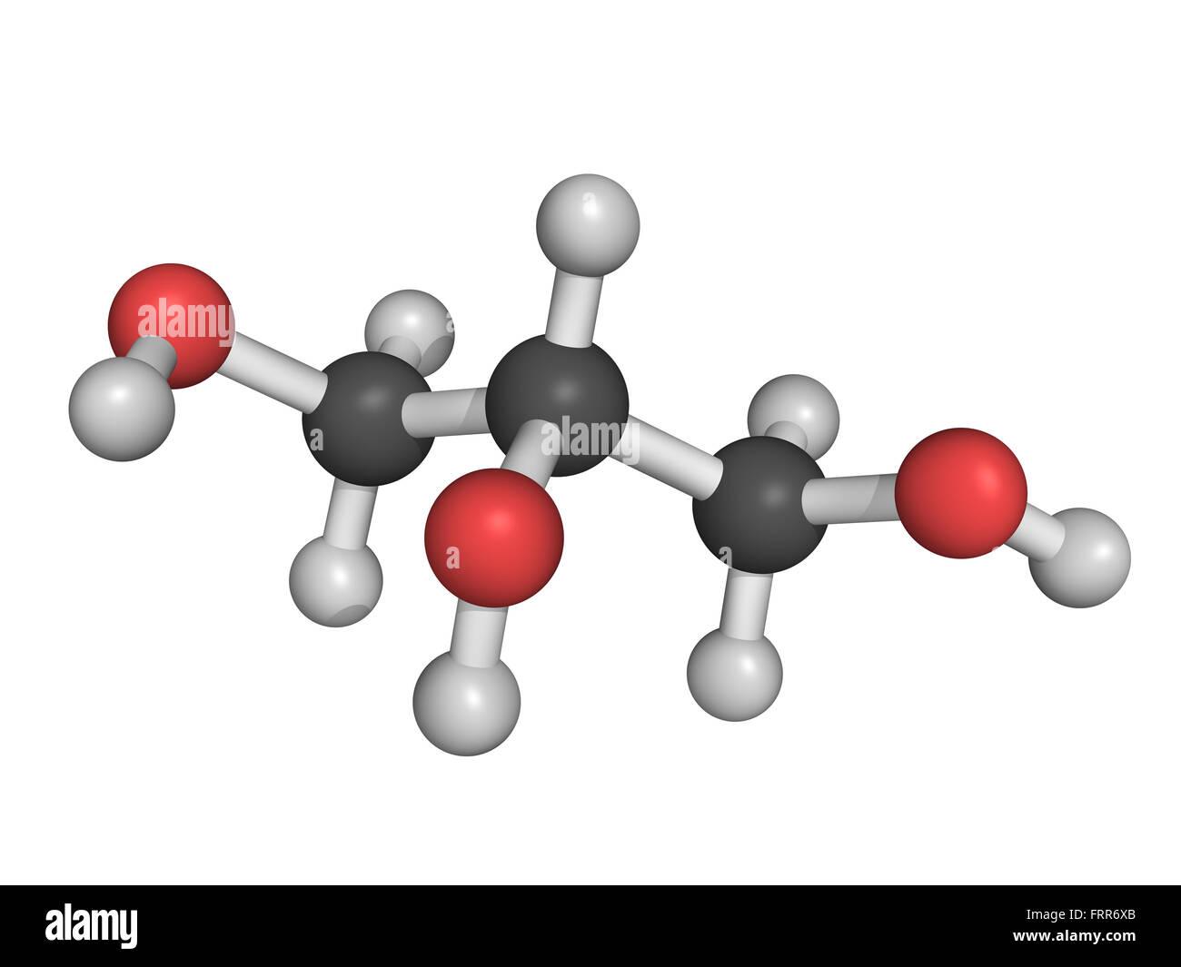 glycerol molecule model