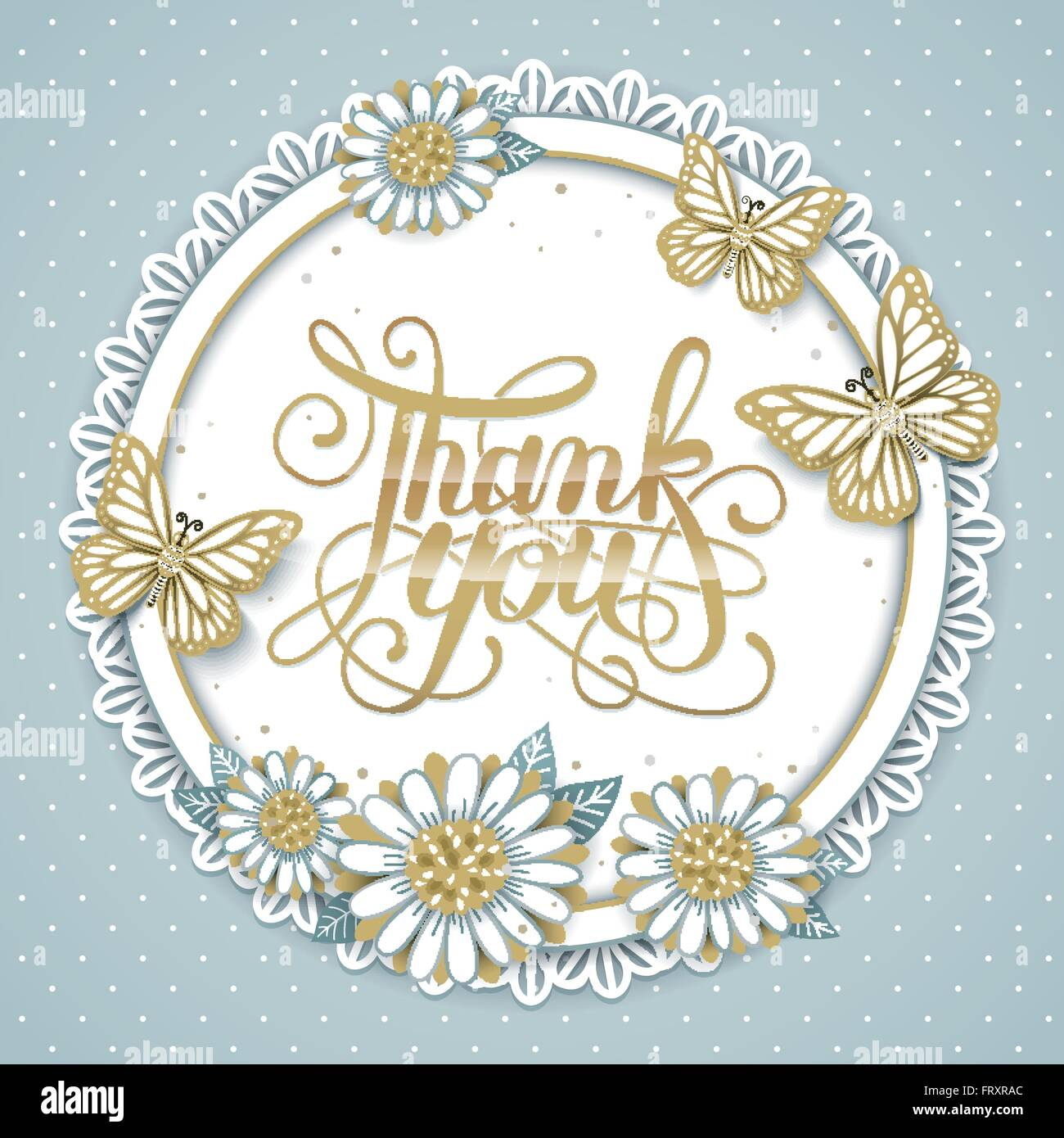 Elegant thank you decorative calligraphy poster design