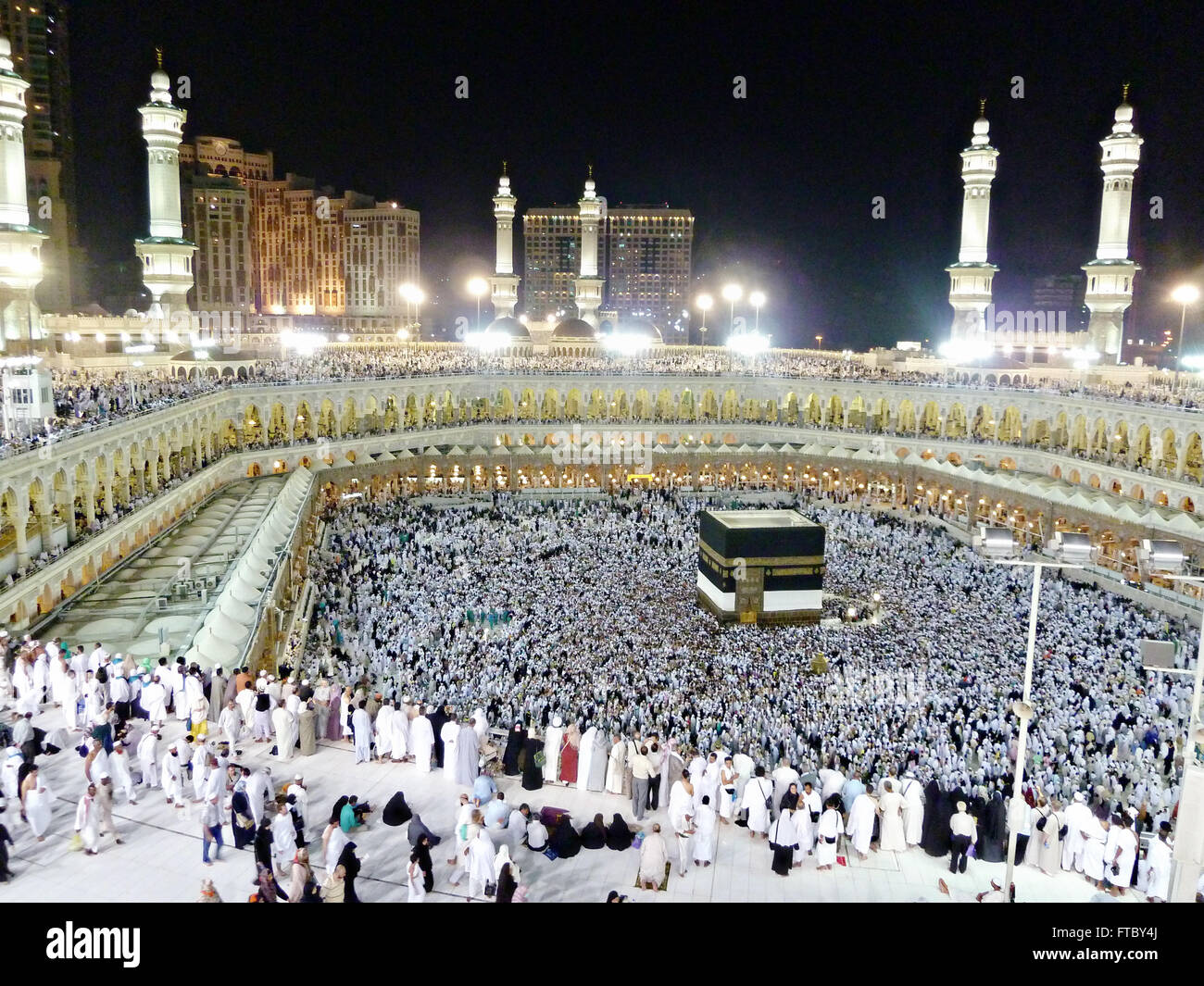 Thousands of Muslim hajj pilgrims circle the Holy Kaaba in ...