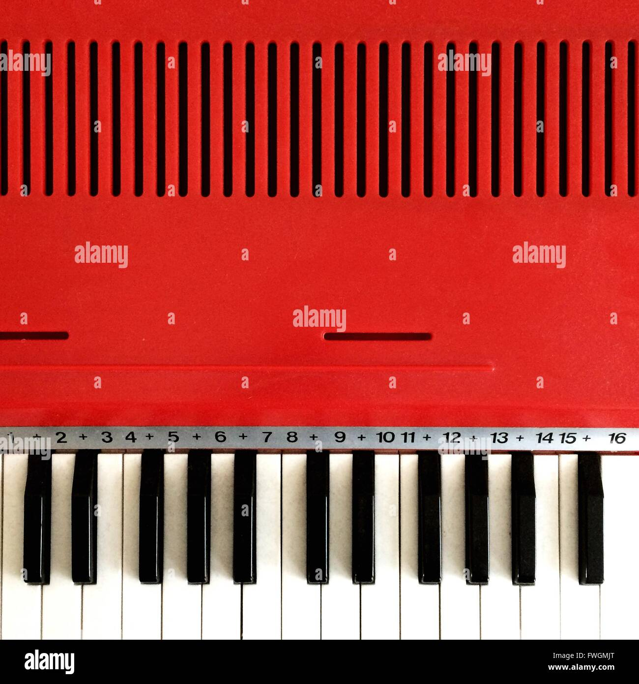 Close-Up Of Piano Stock Foto