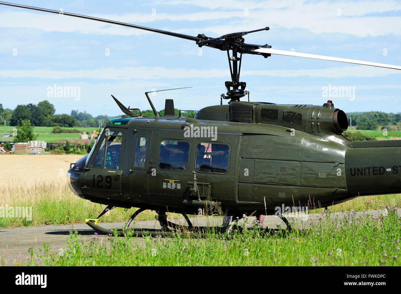 "Huey Helicopter For Sale >> Bell UH-1 Iroquois (nicknamed ""Huey"" during the Vietnam War) on the Stock Photo: 101846148 - Alamy"