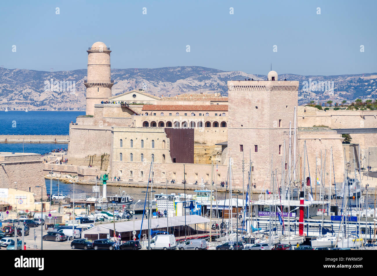 Fort saint jean marseille bdr france 13 stock photo for Marseille bdr