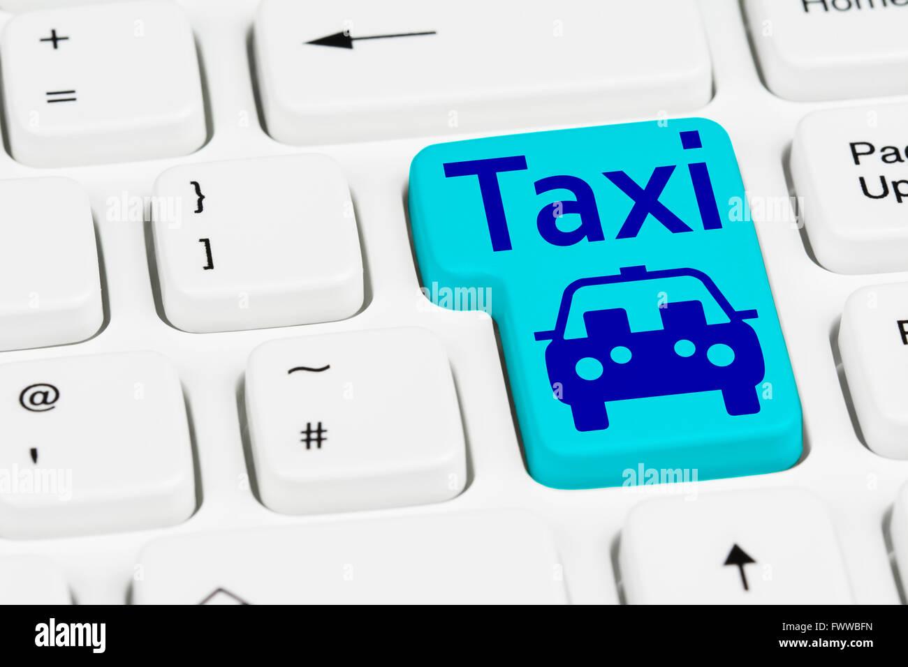 taxi-button-on-a-computer-keyboard-FWWBF