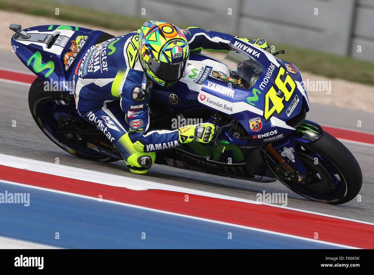 Austin, Texas, USA. 08th Apr, 2016. Valentino Rossi of Italy and Stock Photo, Royalty Free Image ...