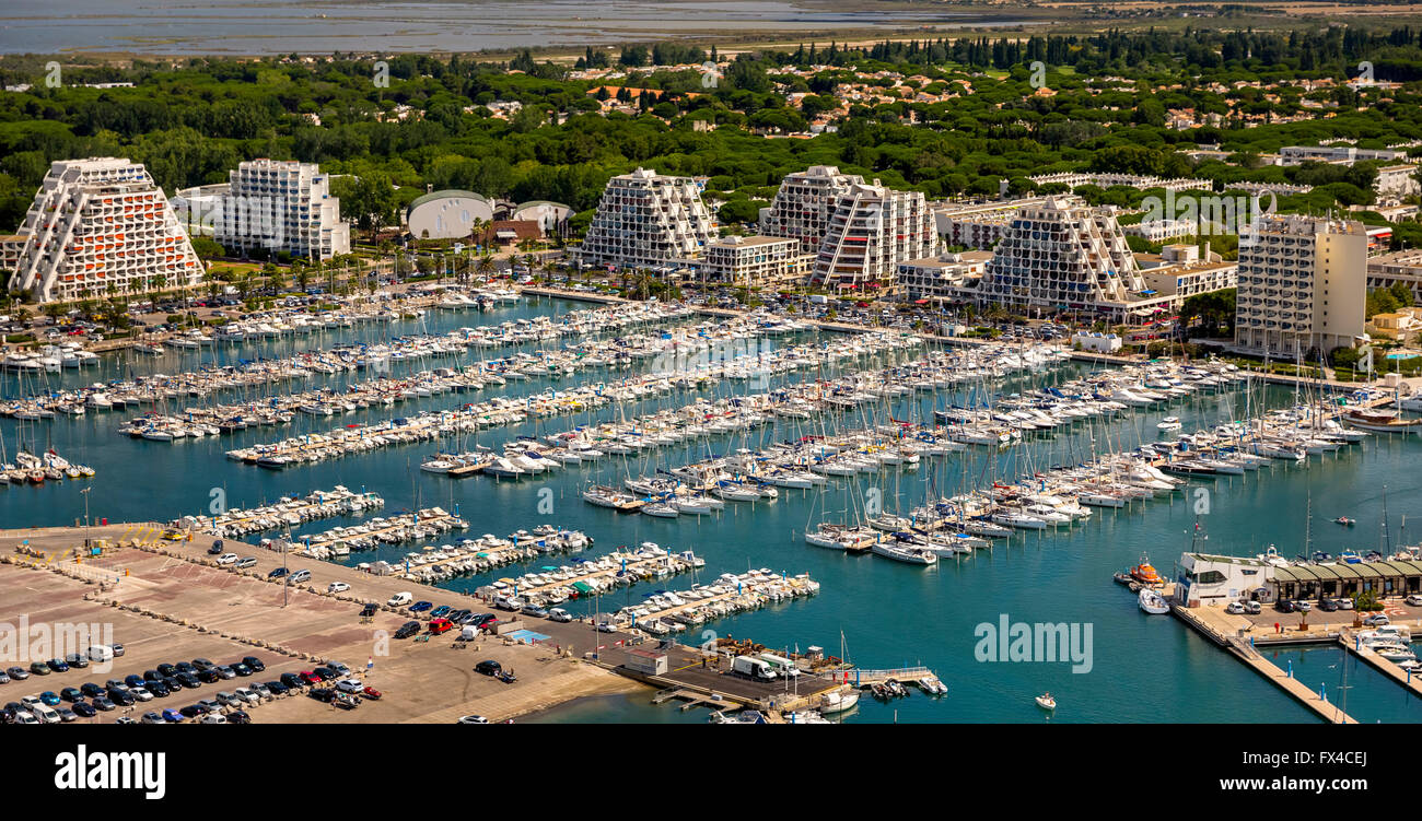 aerial view marina of la grande motte marina of la. Black Bedroom Furniture Sets. Home Design Ideas