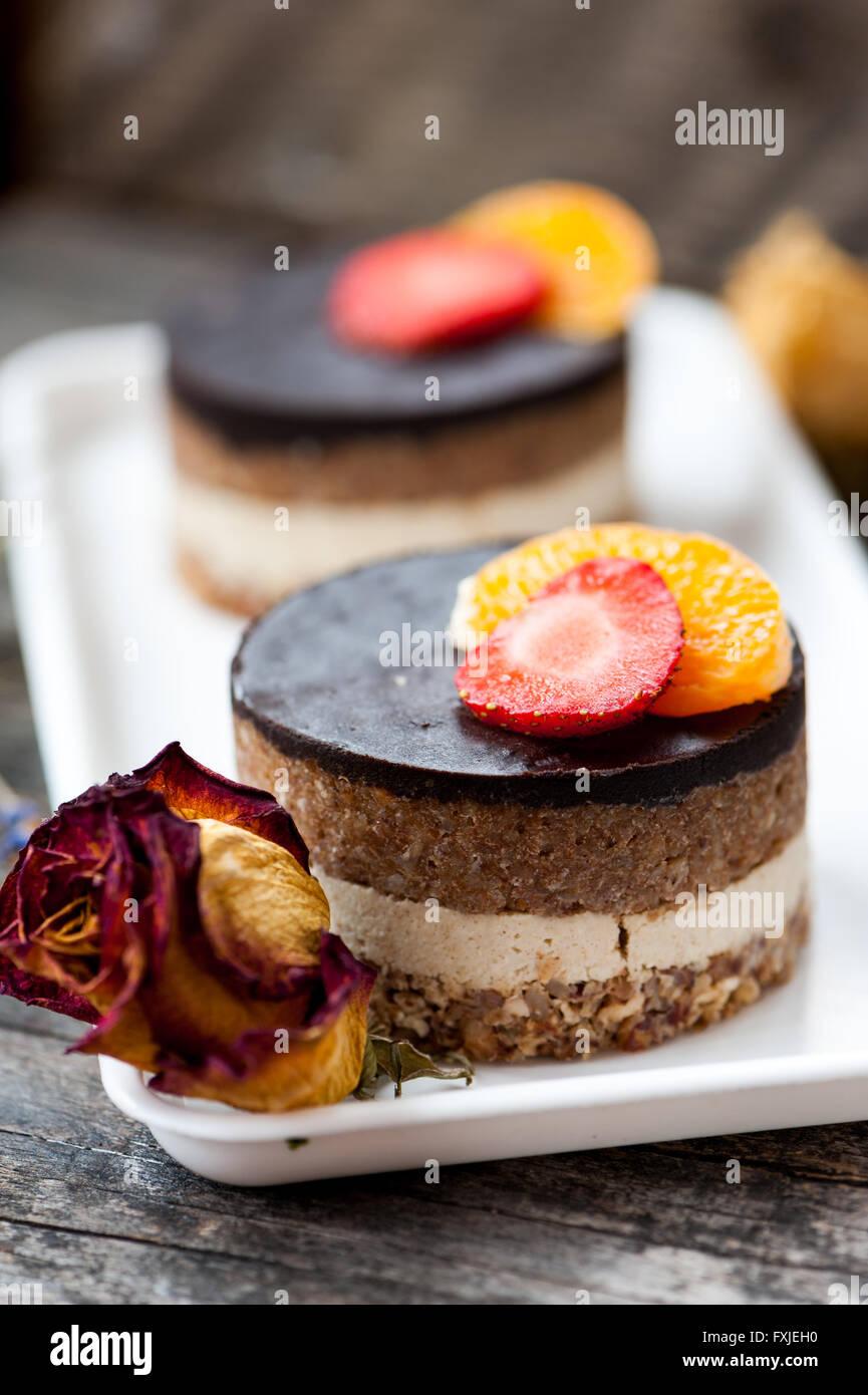 Vegan Orange Cake With Chocolate Ganache