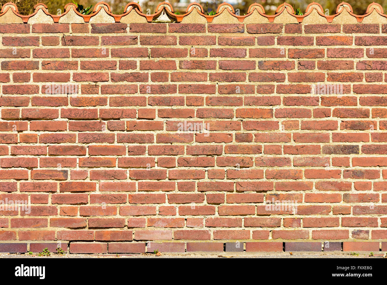 how to build a roof off a brick wall