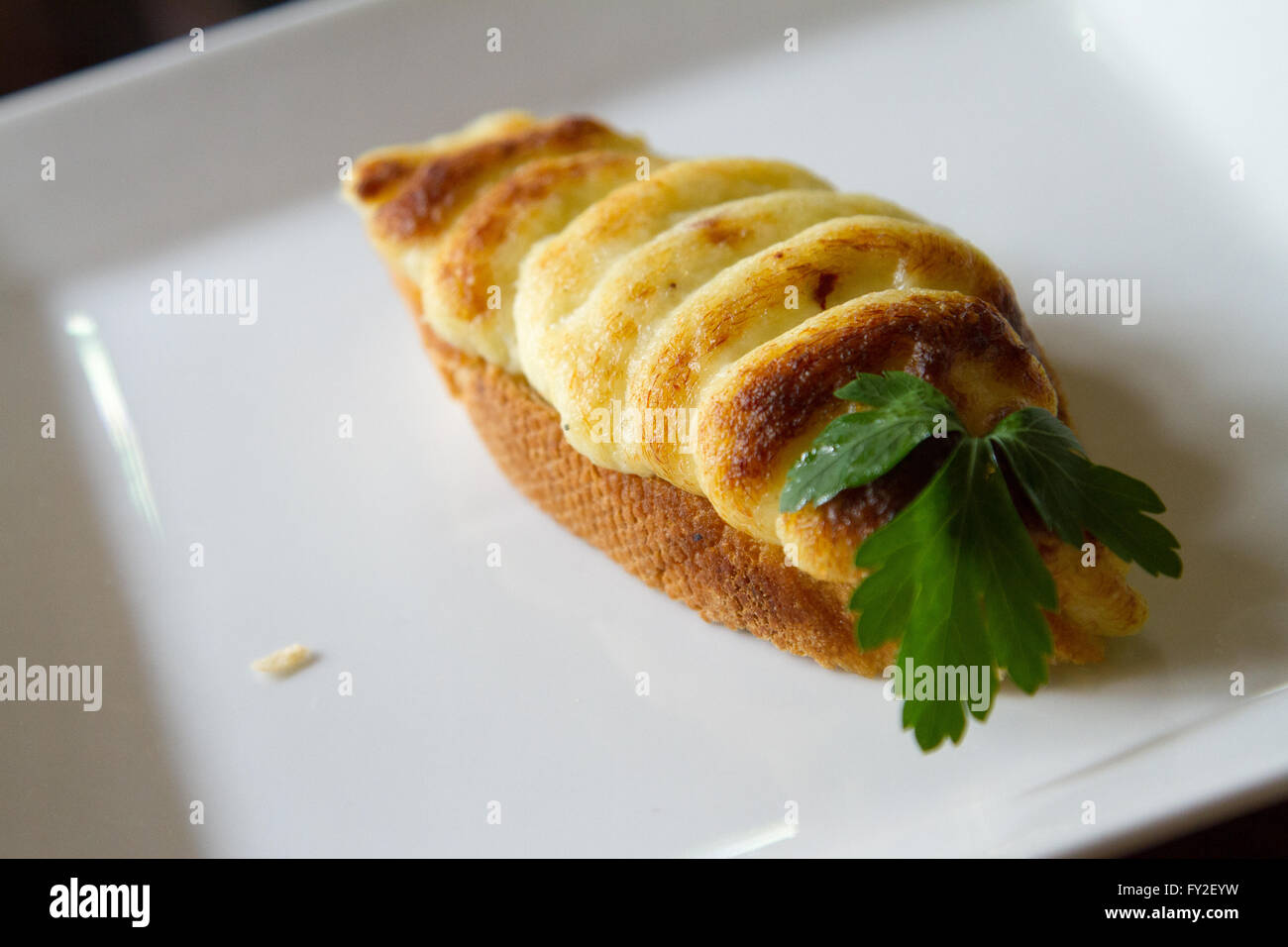 Salted cod tapas Spanish style Stock Photo