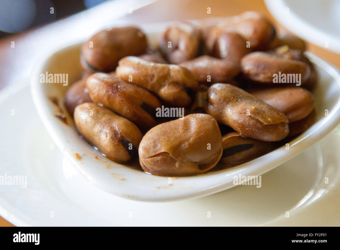 Fava beans served as Spanish tapas Spain Stock Photo