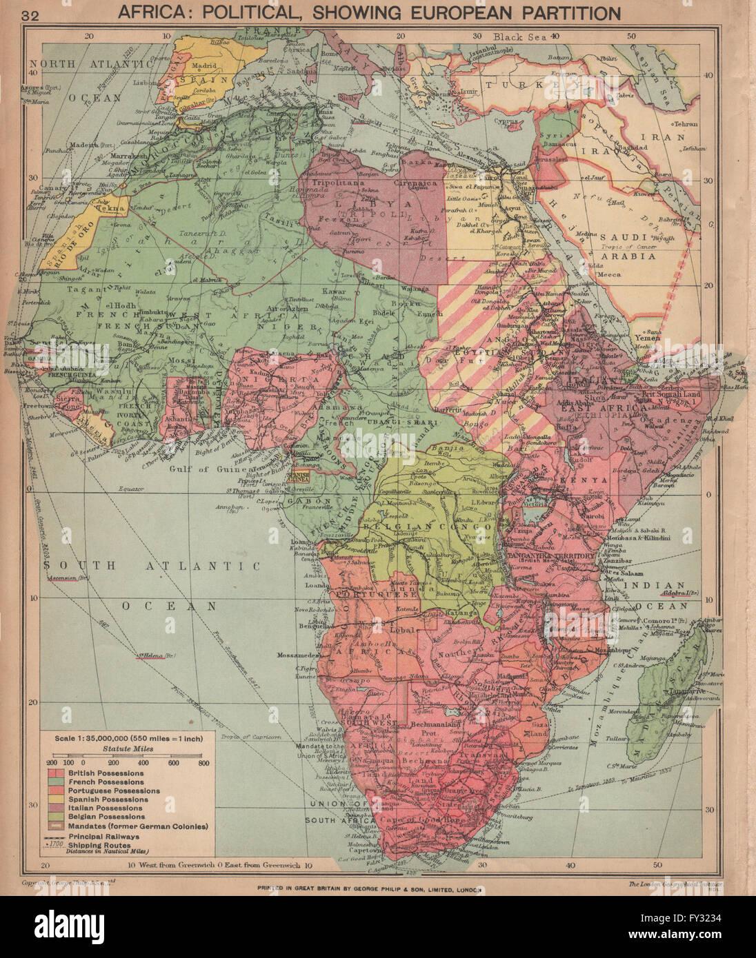 africa map 1940 second world war africa