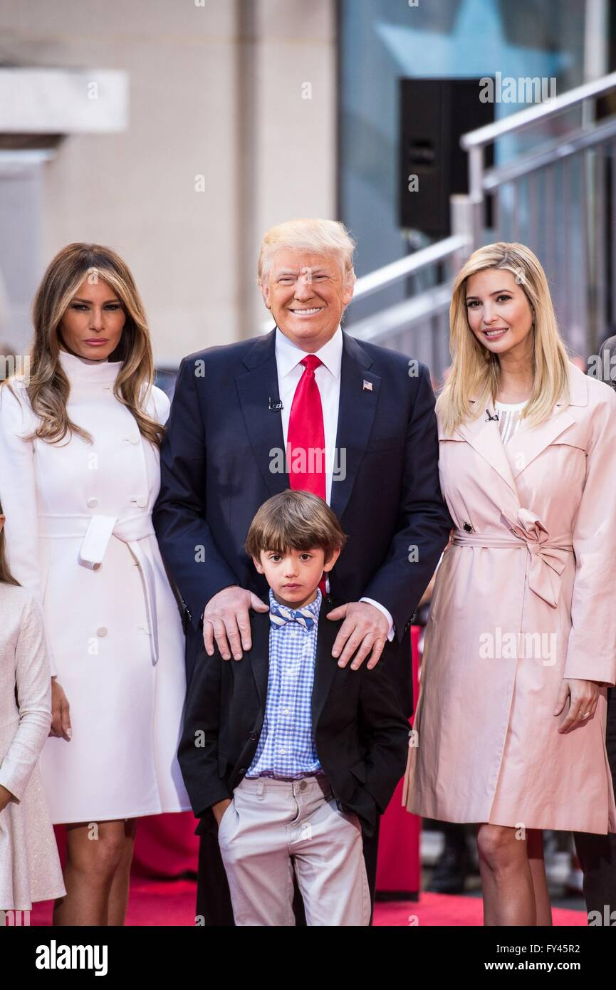 Trump 21 World Depicted As Greek Deity Gaia From: New York, NY, USA. 21st Apr, 2016. Melania Trump, Donald