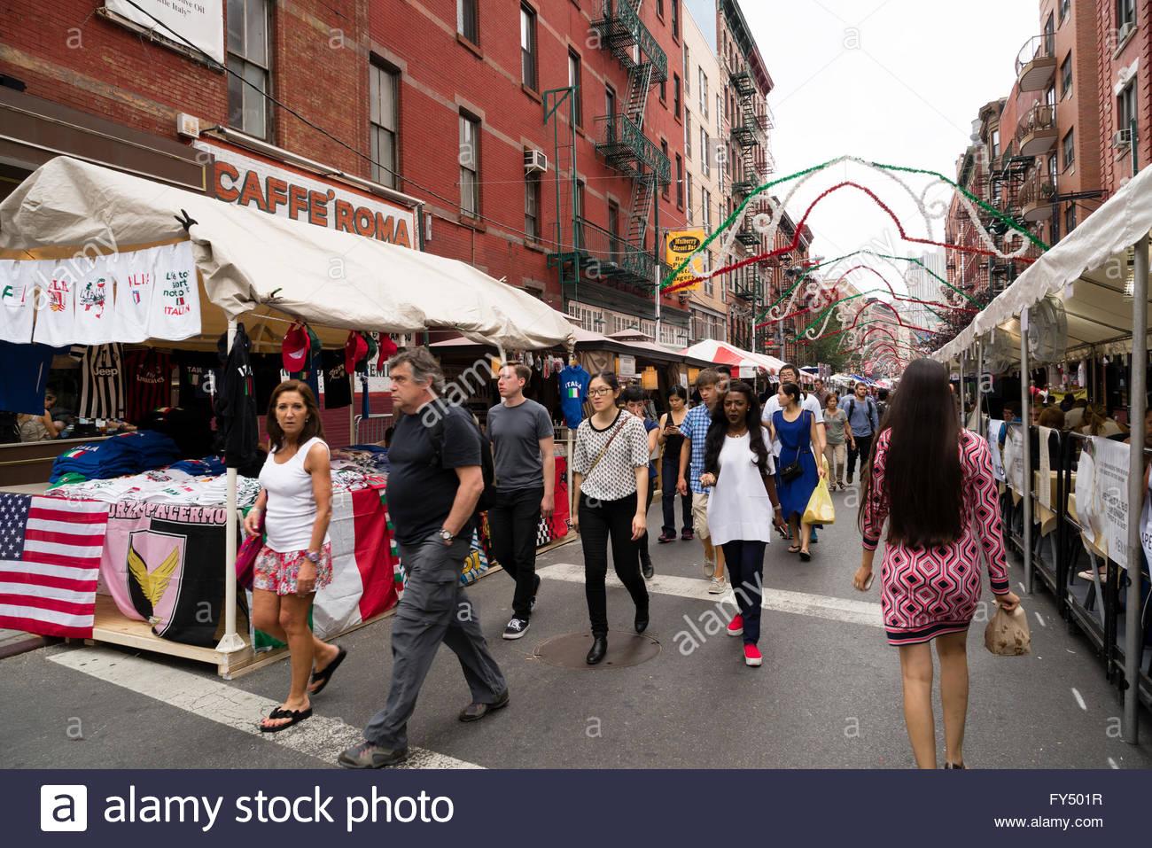 little italy mulberry street manhattan new york new york usa stock photo royalty free image. Black Bedroom Furniture Sets. Home Design Ideas