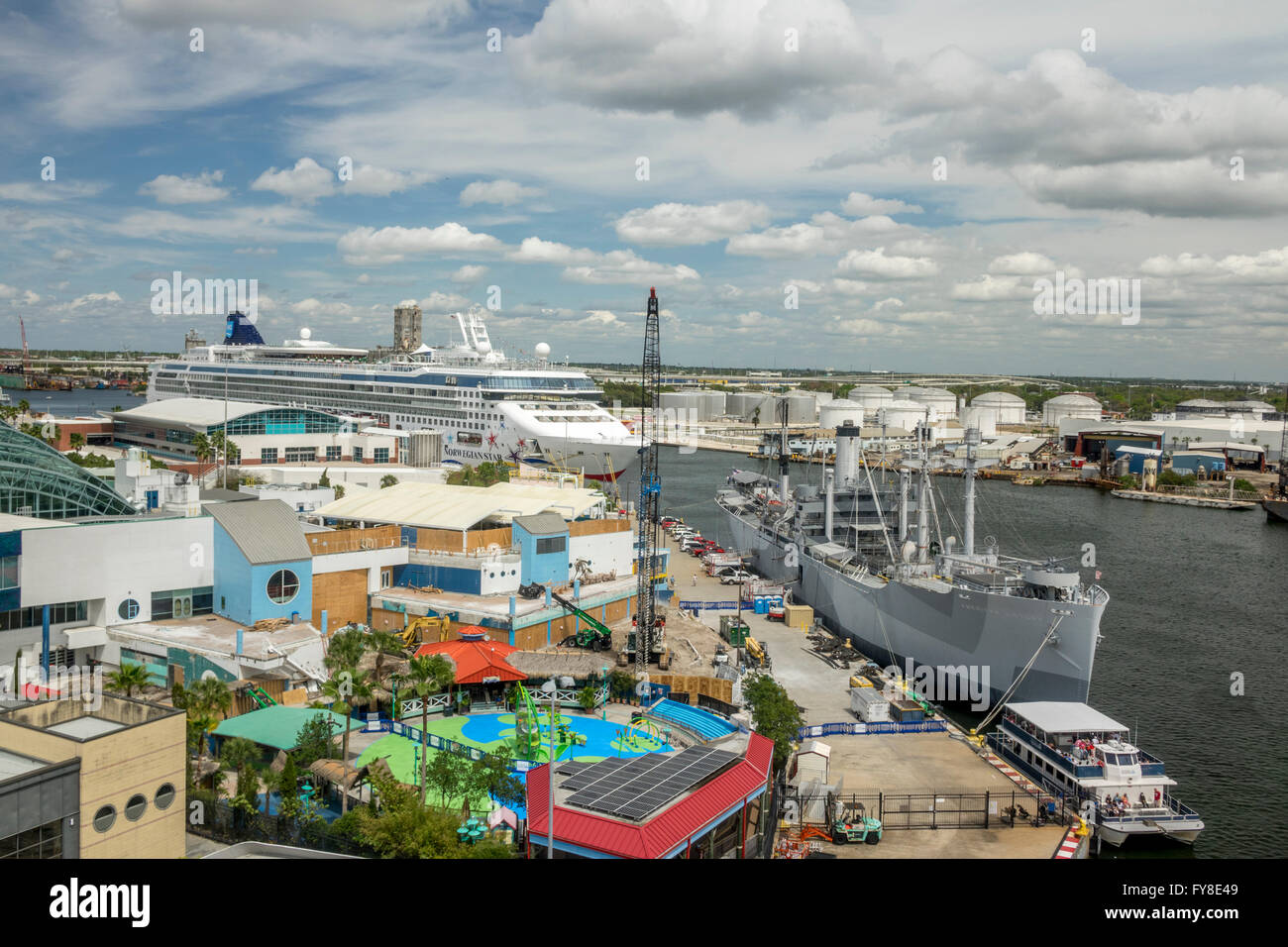 The Cruise Ship Port Terminal In Tampa Bay With The