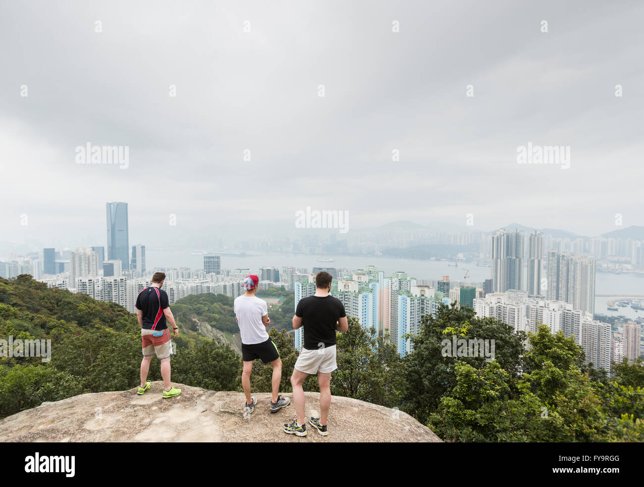View Looking Out Towards East Side Of Hong Kong Island Sai Wan Ho Stock Photo Royalty Free