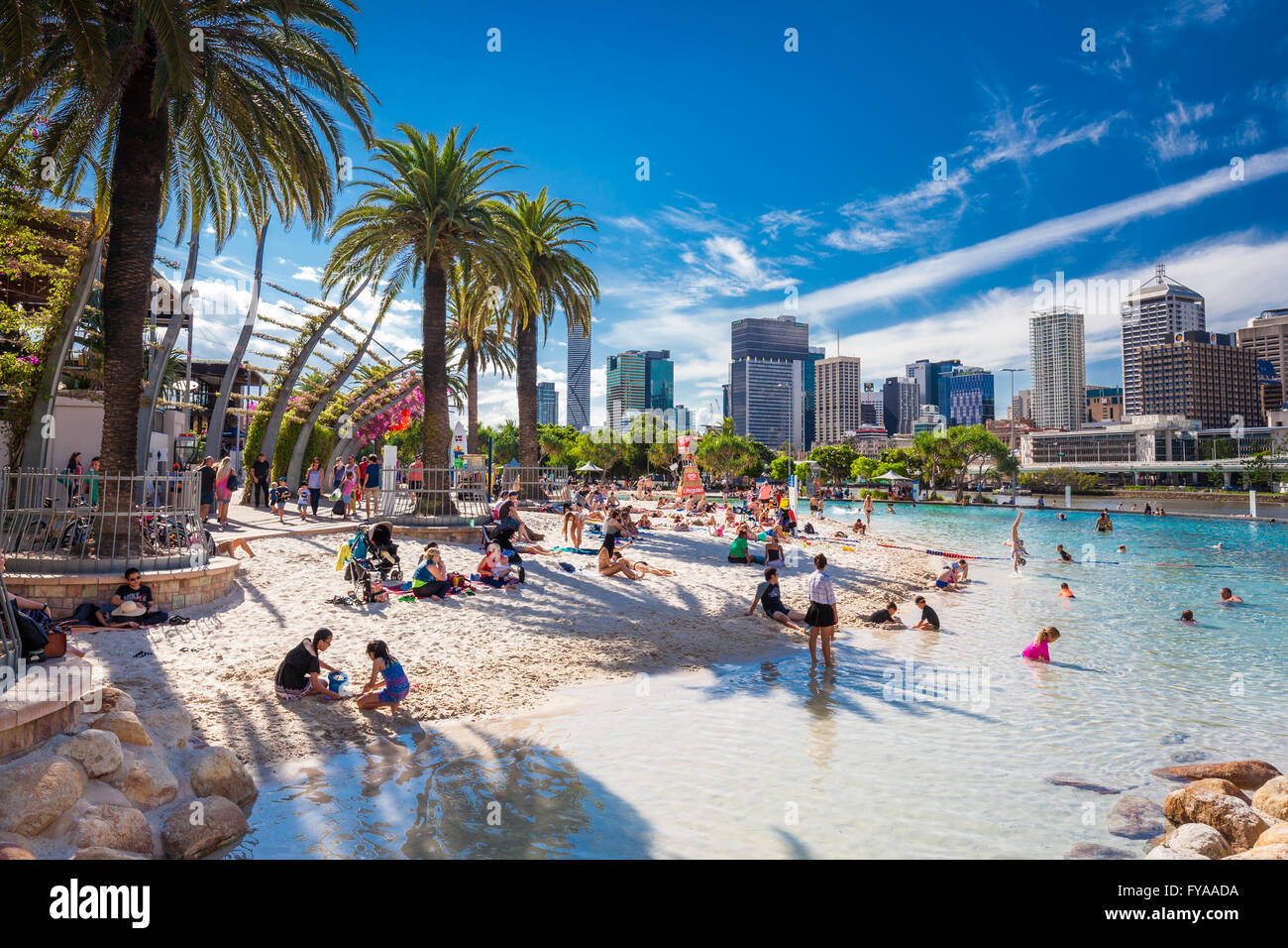 Brisbane aus april 17 2016 streets beach in south bank for Pool show qld