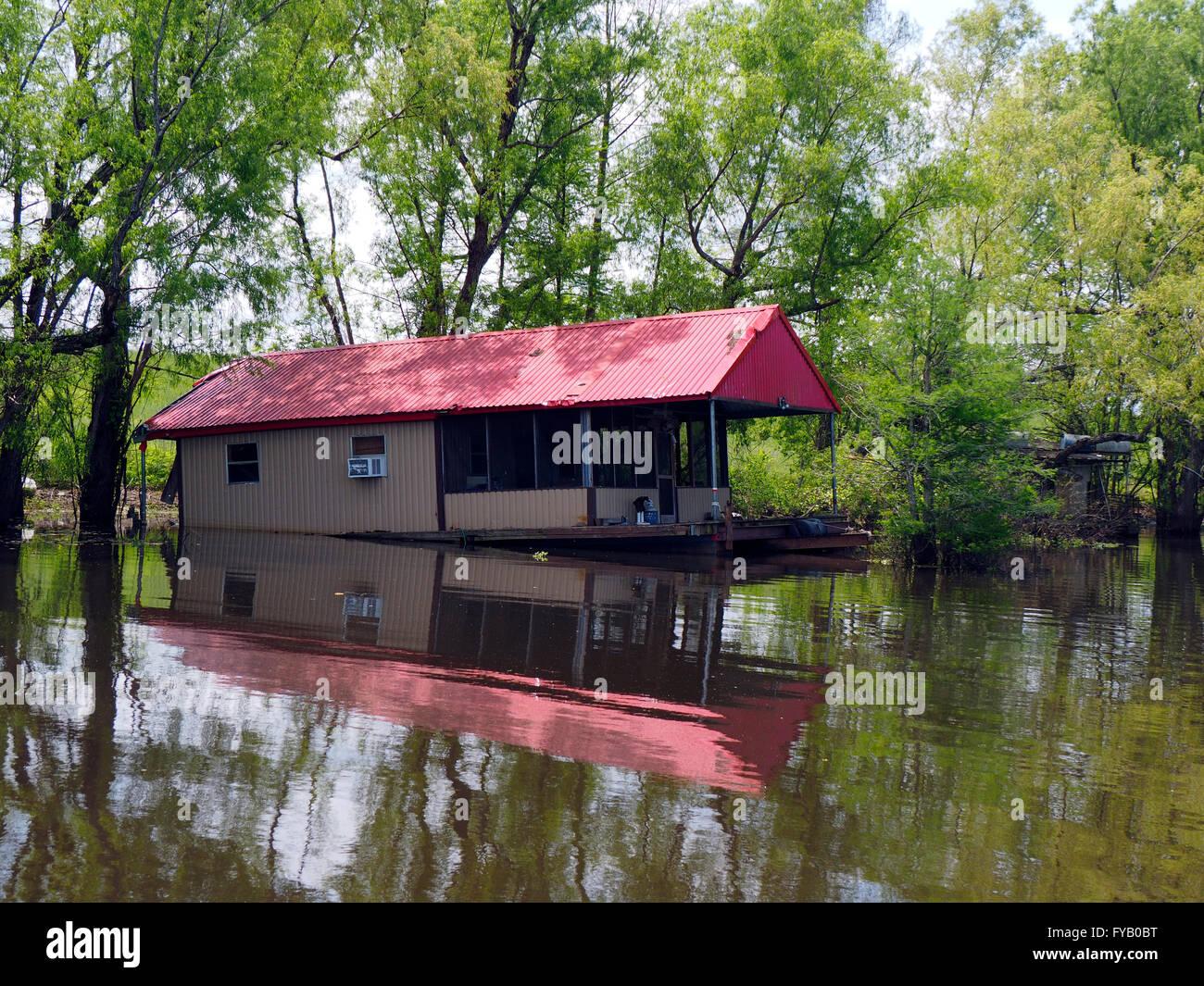 Old House On Louisiana Bayou Stock Photo Royalty Free