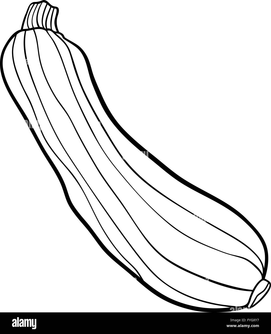 Line Drawing Zucchini : Zucchini vegetable cartoon for coloring book stock photo