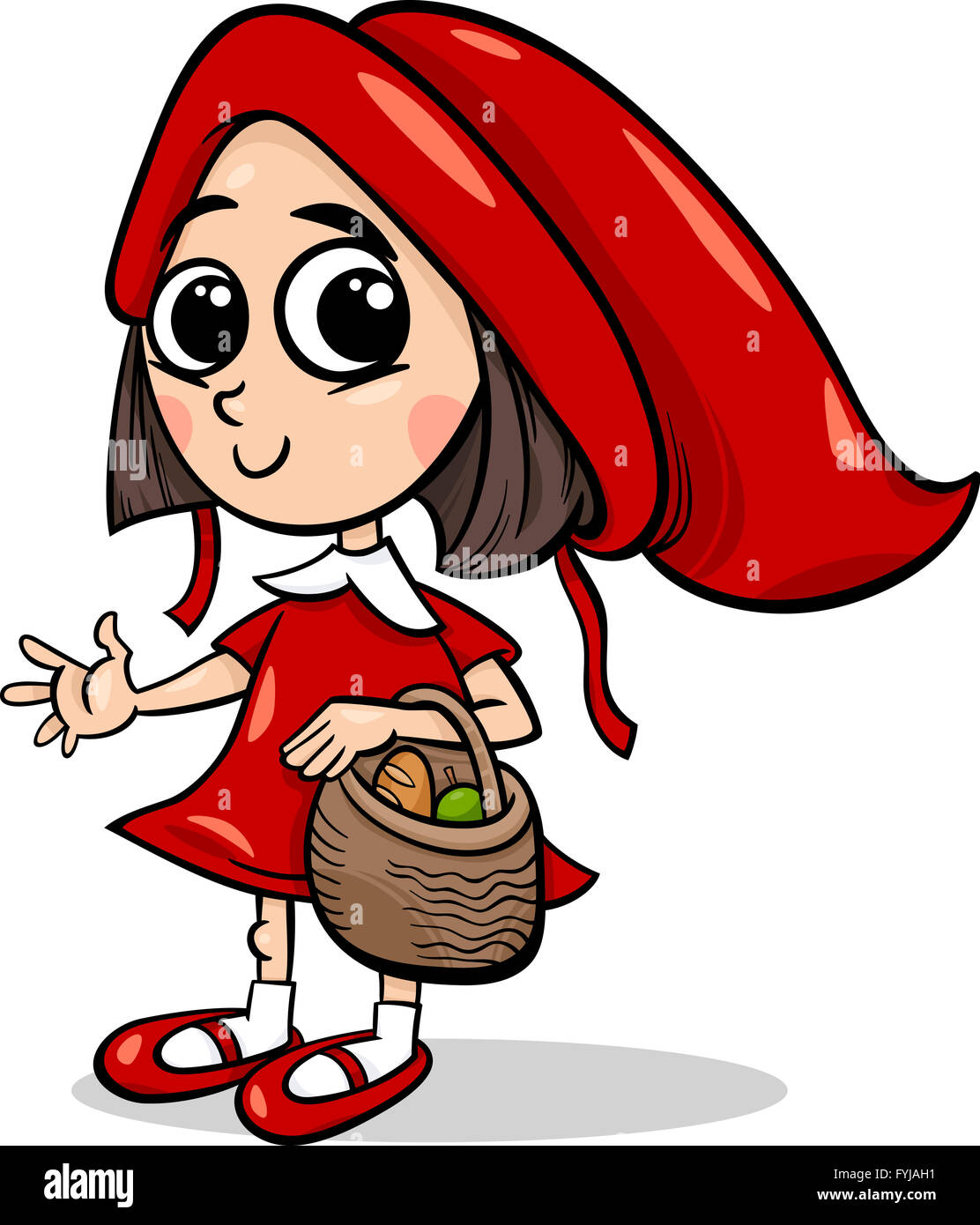 Cartoon Characters In The Hood : Little red riding hood cartoon stock photo royalty free